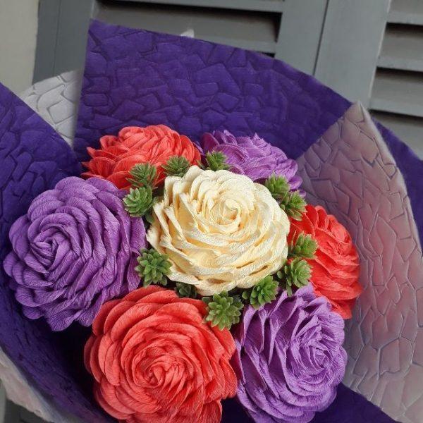 2 cách làm hoa hồng xoắn bằng giấy nhún siêu đơn giản